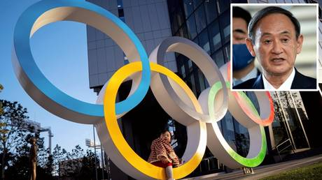 Pressing on: Japanese PM Suga said the Tokyo Olympics will go ahead, as planned