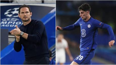 Lampard has defended the out-of-form Havertz. © Reuters