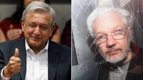 (L) Andres Manuel Lopez Obrador © Reuters / Carlos Jasso; (R) Julian Assange © Reuters / Simon Dawson
