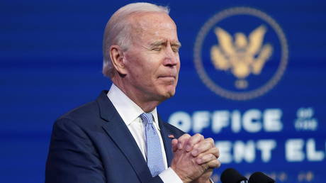 Joe Biden at a press conference in Wilmington, Delaware, January 6, 2021. © Kevin Lamarque / Reuters
