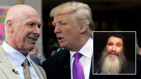 WWE legend Mick Foley (right) has called out Vince McMahon (left) over Donald Trump after riots at the US Capitol © Brendan McDermid / Reuters | © Twitter / RealMickFoley