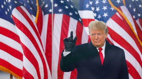 U.S. President Donald Trump holds a rally to contest the certification of the  election results by the U.S. Congress in Washington