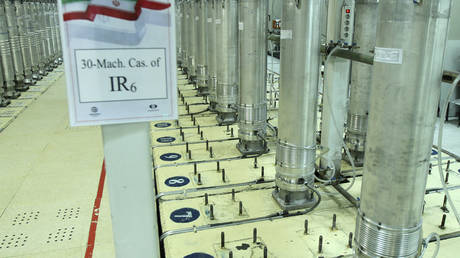 Centrifuge machines in Natanz uranium enrichment facility, November 5, 2019