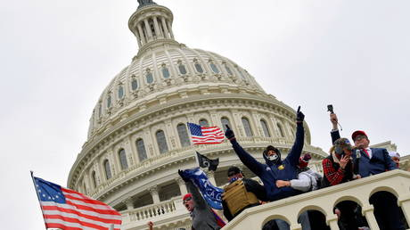 Supporters of US President Donald Trump occupy the US Capitol Building in Washington DC on January 6, 2021 © Jack Gruber/USA TODAY via REUTERS