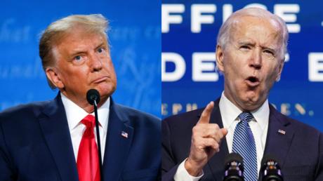 Donald Trump and Joe Biden © Reuters / Jonathan Ernst and Kevin Lamarque