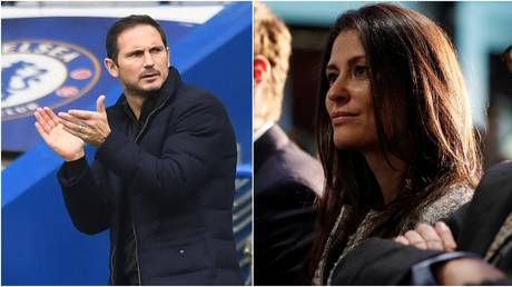 Chelsea boss Frank Lampard and club director Marina Granovskaia. © Action Images / Reuters