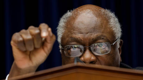 US Representative James Clyburn is shown at a House hearing last September.