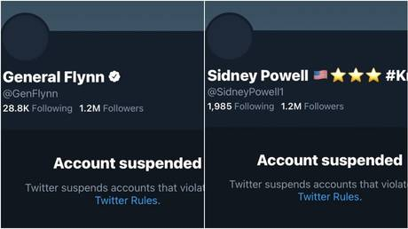 Accounts of Gen. Michael Flynn and Sidney Powell were banned on January 8, 2021 as part of a 'QAnon purge'