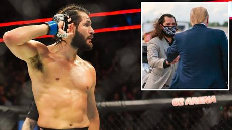 Jorge Masvidal appears to be unhappy at Donald Trump's Twitter ban