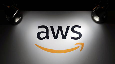 The logo of Amazon Web Services (AWS)