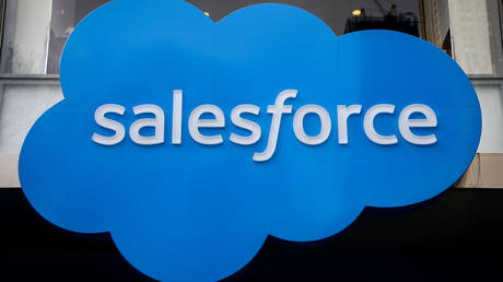 The email provider used by the RNC and Trump campaign is owned by Salesforce (file photo)