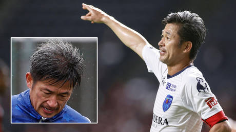 World's oldest professional football player Kazuyoshi Miura has signed a new deal with Yokahama of Japan's J League © Toru Hanai / Reuters | © Kyodo / Reuters