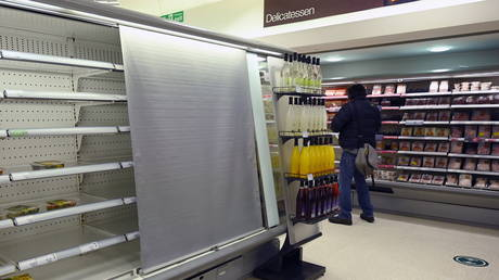 New customs rules have resulted in empty shelves at supermarkets in Northern Ireland. © REUTERS/Clodagh Kilcoyne/ file photo