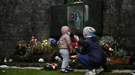 The site of the former Tuam mother and baby home, where the bodies of 796 babies were discovered, Ireland, January 12, 2021