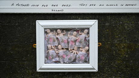 A detail view of the Tuam graveyard in Tuam, Ireland, January 12, 2021