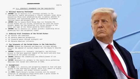 (L) © White House; (R) Donald Trump © REUTERS / Carlos Barria