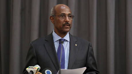 FILE PHOTO: Ethiopia's former foreign minister Seyoum Mesfin April 2, 2016 was reportedly killed in Tigray.