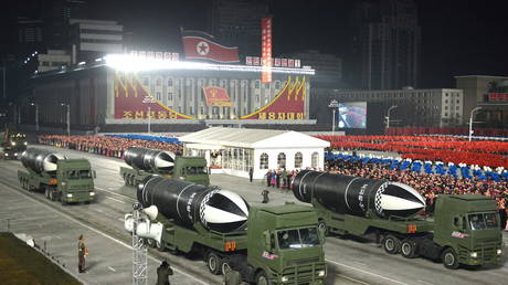 Military parade in Pyongyang, North Korea to commemorate the 8th Congress of the Workers' Party, January 14, 2021 © KCNA via Reuters