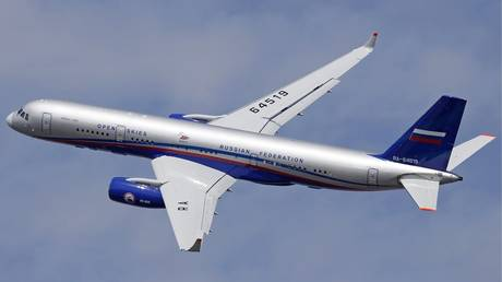 Russian Air Force Tupolev Tu-214ON which will be operated under the Open Skies treaty.