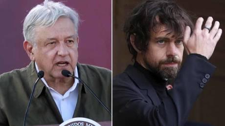 FILE PHOTOS: Andrés Manuel López Obrador, president of Mexico (L); Jack Dorsey, CEO of Twitter (R)