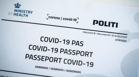Denmark's proposed Covid-19 passport © Reuters / Ritzau Scanpix