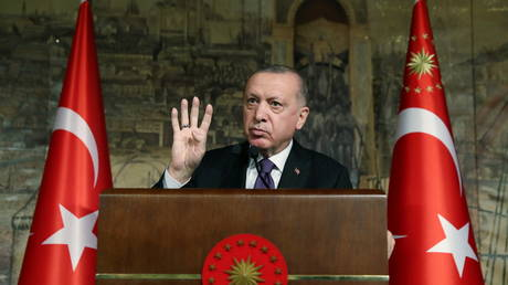 Turkish President Tayyip Erdogan, Istanbul, Turkey, January 15, 2021 © Presidential Press Office/Handout via REUTERS