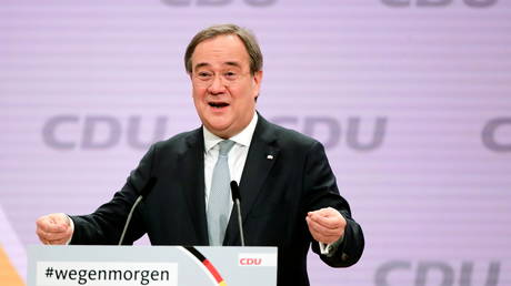The new elected Christian Democratic Union (CDU) party leader Armin Laschet pictured in Berlin, Germany on January 16, 2021.