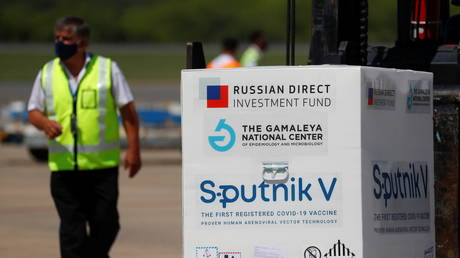 FILE PHOTO. Doses of the Sputnik V vaccine at Ezeiza International Airport, in Buenos Aires, Argentina. ©REUTERS / Agustin Marcarian