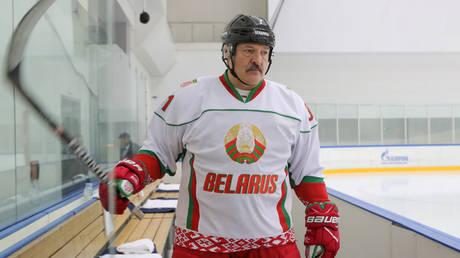 Belarus President Alexander Lukashenko is a hockey enthusiast. © Reuters