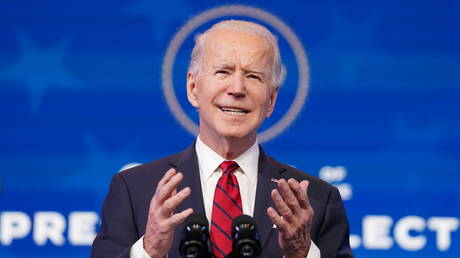 FILE PHOTO: US President-elect Joe Biden speaks about his plan to administer coronavirus disease (COVID-19) vaccines to the US population during a news conference at Biden's transition headquarters in Wilmington, Delaware, US, January 15, 2021