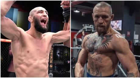 Chimaev had words for McGregor ahead of UFC 257. © Zuffa / LLC Instagram @thenotoriousmma