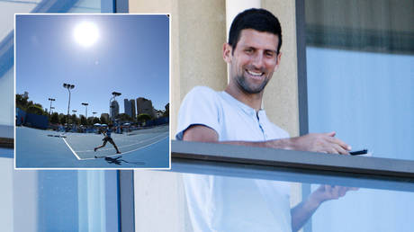Tennis star Novak Djokovic has been in quarantine ahead of the Australian Open  © AAP Image/Morgan Sette via Reuters | © Action Images / Jason O'Brien via Reuters