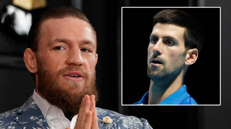 UFC star Conor McGregor (left) has told Novak Djokovic and Australian Open tennis aces not to complain about Covid-19 rules © Mike Blake / Reuters | © Action Images / Paul Childs via Reuters
