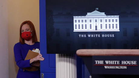 White House Press Secretary Jen Psaki arrives to speak in the James S Brady Press Briefing Room at the White House, after the inauguration of Joe Biden as the 46th President of the United States, US, January 20, 2021