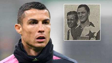 Football star Cristiano Ronaldo (left) has scored fewer goals than Josef Bican (far right), the Czech FA says © Daniele Mascolo / Reuters | Wikimedia Commons