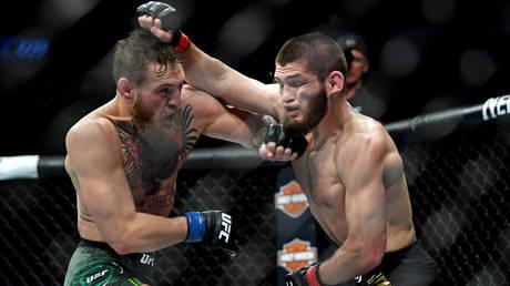 Conor McGregor (left) has spoken about a rematch with Khabib Nurmagomedov ahead of UFC 257 © Stephen R Sylvanie / USA Today Sports via Reuters