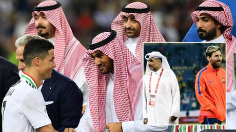 Football stars Cristiano Ronaldo (far left) and Lionel Messi (far right) have visited Saudi Arabia © Waleed AliI/ Reuters | © Ibraheem Al Omari / Reuters