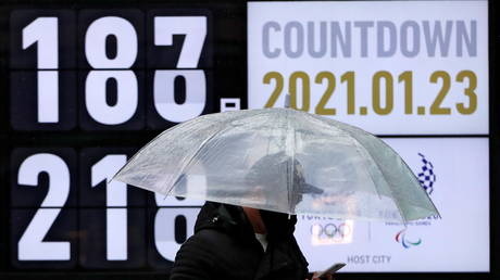 FILE PHOTO: A countdown clock shows the number of days to the Tokyo Olympic Games, Japan. © REUTERS / Issei Kato