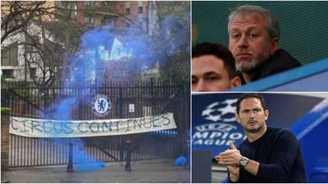 Chelsea fans vented their anger after Lampard was sacked by Abramovich. © Twitter @chelsea1012 / Reuters