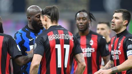 Zlatan Ibrahimovic and Romelu Lukaku clashed during the Coppa Italia quarterfinal. © Reuters