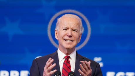 FILE PHOTO: Joe Biden speaks about his plan to administer coronavirus disease (COVID-19) vaccines to the US population during a news conference at Biden's transition headquarters in Wilmington, Delaware, US, January 15, 2021