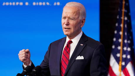 FILE PHOTO: U.S. President-elect Joe Biden speaks about his plan to administer coronavirus disease (COVID-19) vaccines to the U.S. population during a news conference at Biden's transition headquarters in Wilmington, Delaware, U.S., January 15, 2021