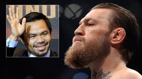 Boxing star Manny Pacquiao (left) and ex-UFC champion Conor Mcgregor © Romeo Ranoco / Reuters | © Mark J Rebilas / USA Today Sports via Reuters
