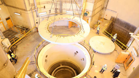 FILE PHOTO: A view of the water nuclear reactor at Arak, Iran. © WANA (West Asia News Agency) via REUTERS
