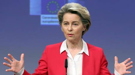 European Commission President Ursula Von Der Leyen, Brussels, Belgium, January 8, 2021