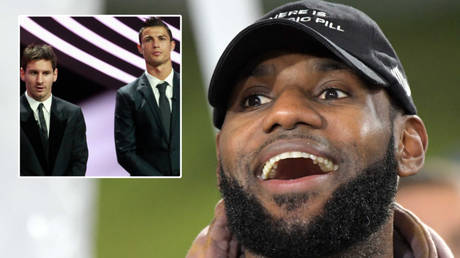 NBA legend LeBron James (right) could join the likes of football stars Cristiano Ronaldo (center) and Lionel Messi in earning billion dollars © Eric Gaillard / Reuters | © Kirby Lee / USA Today Sports via Reuters