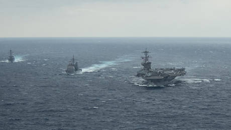 USS Theodore Roosevelt task force in the Pacific Ocean, January 15, 2021
