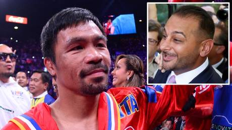 Warning: Manny Pacquia's manager (inset) Audie Attar has taken aim at the boxer's past representatives
