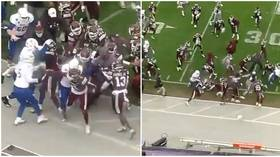 'Ban them for two years': Investigation after wild brawl erupts in college football clash between Mississippi & Tulsa (VIDEO)