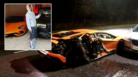 Drink-driving arrests made after Premier League ace Mousset's $400,000 Lamborghini is wrecked in midnight crash with parked cars